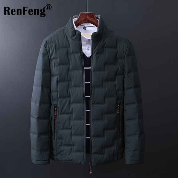 2018 Top Quality Parkas Men's Warm Winter Jacket Windproof Casual Outerwear Thick Thermal Down Brand Clothing Coat Men Parka