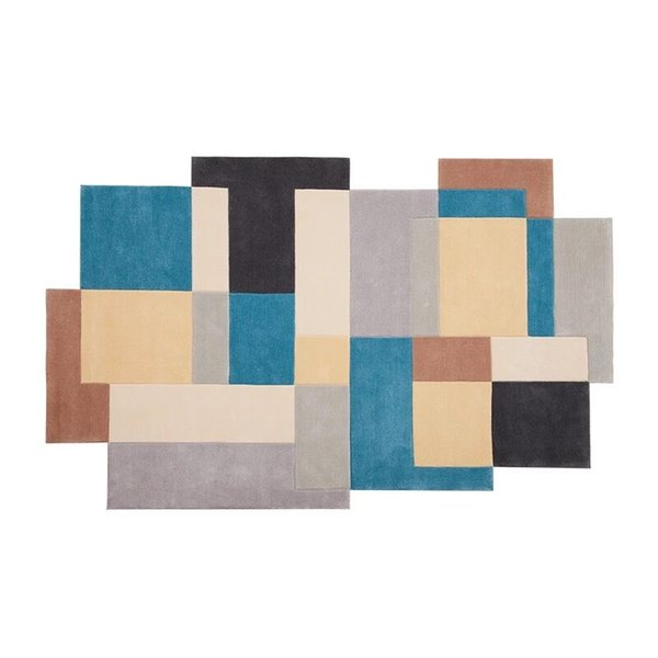 Patrones geométricos, alfombras de acrílico, redondas para la sala de estar, área de dormitorio de los niños, alfombras, para alfombras opcionales, alfombras de cocina y alfombras de oración