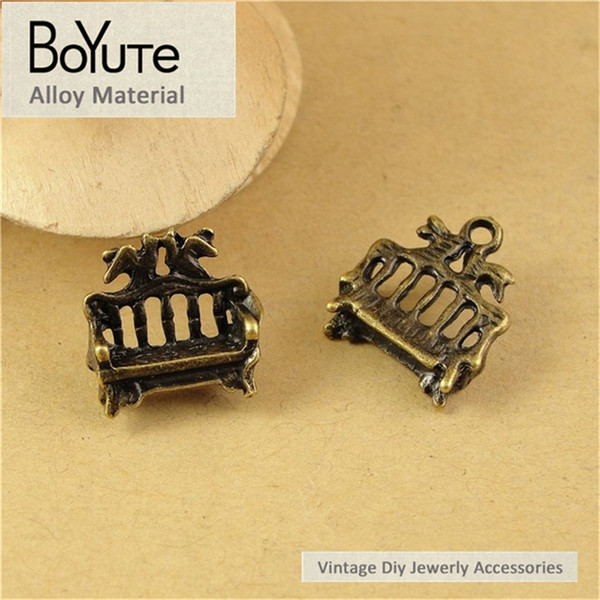 BoYuTe (60 Pieces /lot) 16*14*5MM Antique Bronze Plated Metal Zinc Alloy Sofa Charms Pendant for Jewelry Accessories Diy Hand Made