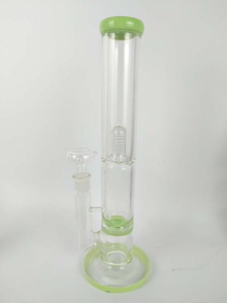 H: 34C M de altura Una capa de filtro de nido de abeja de vidrio tubería de agua bong, tubería de vidrio, plataforma petrolera