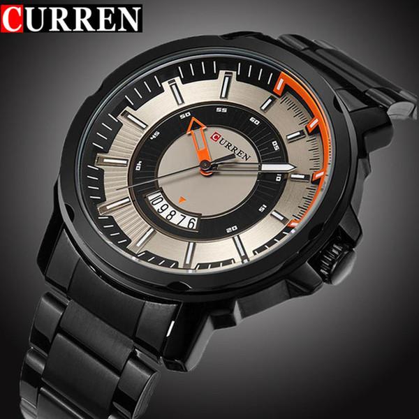 45353b2b9e9 Curren homem esporte relógio de quartzo moda casual mens relógios top marca  de luxo relógio de