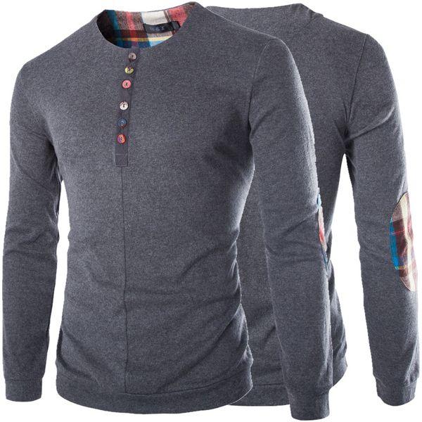 Lã Cashmere Camisa Dos Homens T de Mangas Compridas Polos de Alta Qualidade Dos Homens Polos Outono Novo Tamanho Grande Dos Homens Tees