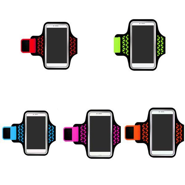 Léger brassard de stockage de téléphone en cours d'exécution sport poignet pack poches de jogging en plein air randonnée vélo téléphone intelligent sac
