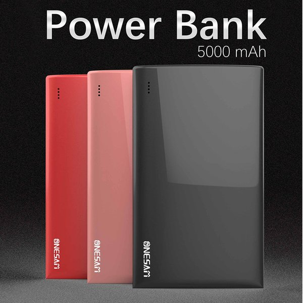 ONESAM OS-B01 Ultra thin Power Bank 5000mAh External Battery Portable 5V 2.4A For Apple Samsung LG Smartphone Tablet In Stock