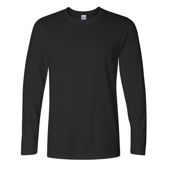 Classic Men T shirt Long Sleeve O neck Mens T-shirt Cotton Tees Tops Mens Brand tshirt Plus size XS- XXL Sweatshirts