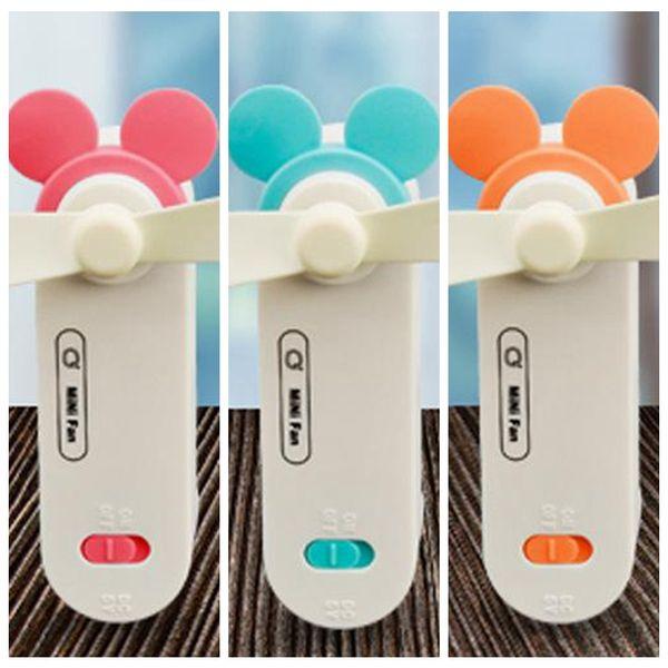 Basit USB Şarj Edilebilir katlanmış Mini fan Kolu Güçlü Rüzgar Taşınabilir USB Soğutma fanı Cep Mini Katlanır hayranları Yenilik Oyunları GGA141 50 ADET