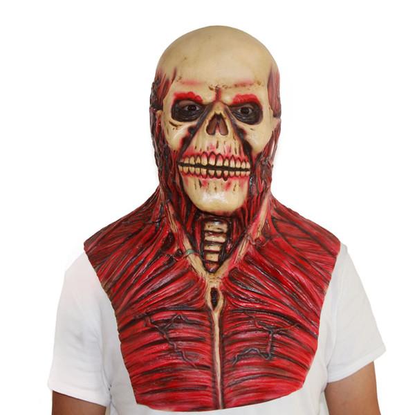 024ec4b8d 2018 Venta caliente Scary Devil Zombie Máscara Halloween Cosplay Fiesta  Horror Monster Skull Máscara de látex