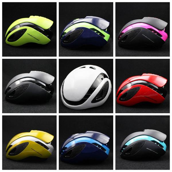 10 couleurs Casques de vélo de course Triathlon Vélo de montagne Aero Casque Équipement Sécurité Équipement de protection Movistar Casques de sécurité GGA637