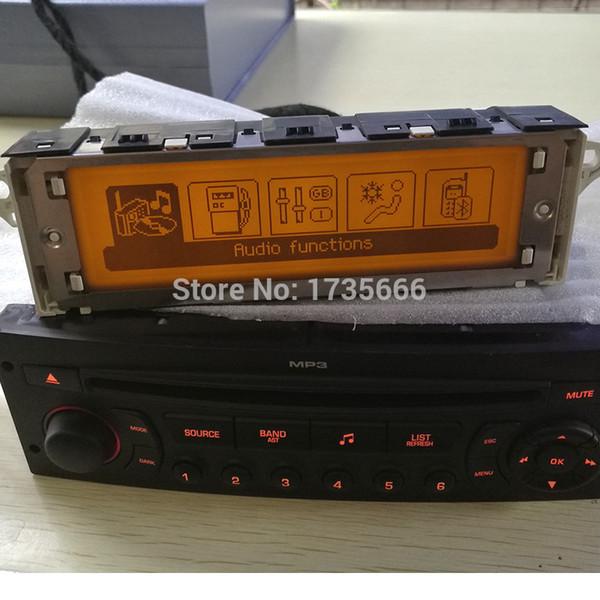 10PCS Original Car Screen Support USB Bluetooth Display LCD- Monitor amarillo 12 Pin Air genuine para 307 407 408 c5 GPS
