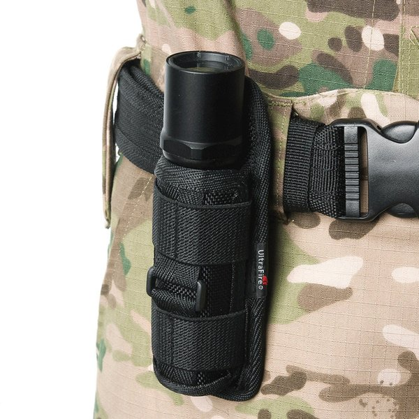 Nylon bag Tactical 360 Degrees Rotatable Flashlight PouchTorch Case for Belt Torch Cover Hunting Lighting Accessories