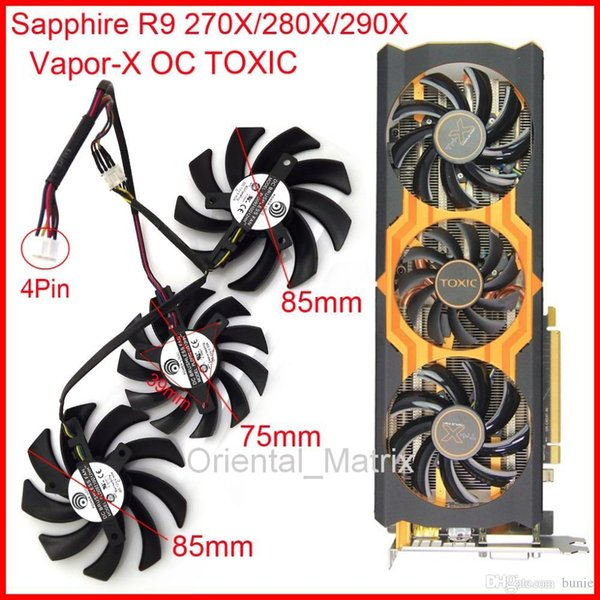 2019 Wholesale POWER LOGIC PLD09210D12HH PLD08010S12HH DC12V 4Pin For  Sapphire R9 270X 280X 290X Vapor X OC TOXIC Graphics Card Fan From Enmir,  $43 65