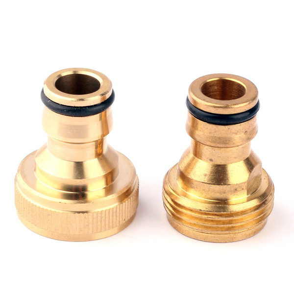 2 Type G 3/4'' Female/Male To Pure Copper Nipper Quick Connectors For Garden Thread Tap/Faucet Connect Irrigation Durable Joint