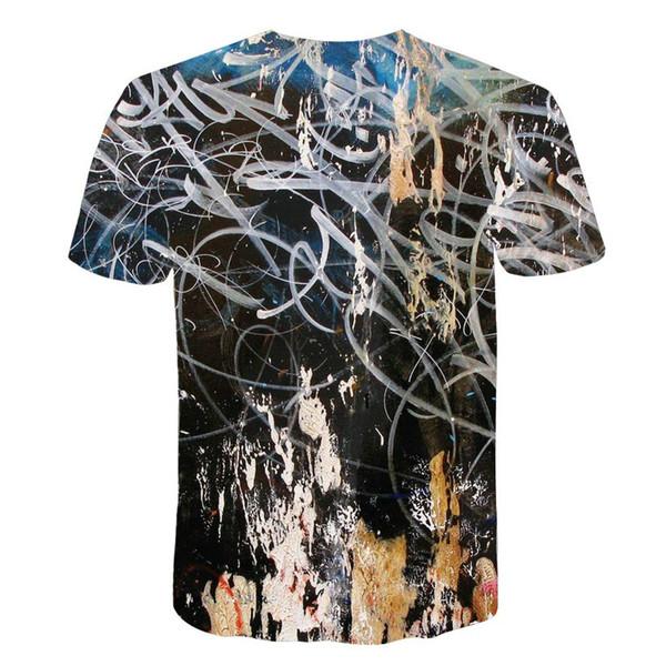 2018 novos homens de lazer 3d impressão t shirt, padrão impresso dos homens e tshirt das mulheres Hip hop T-shirt Harajuku m-5xl