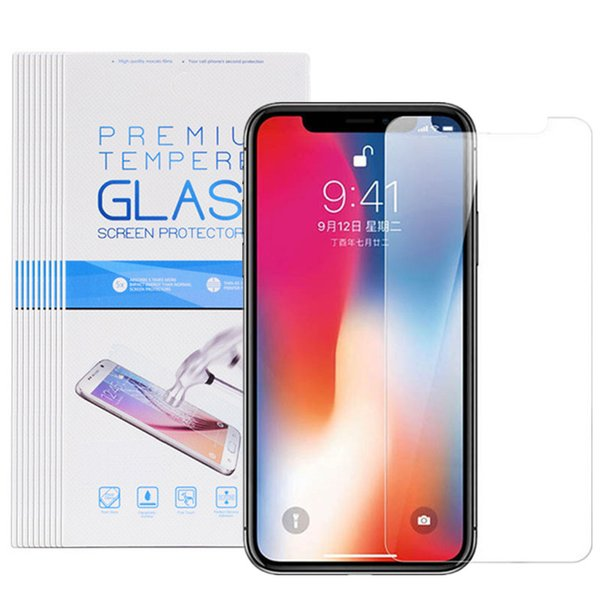 Cristal templado para iPhone Xs Protector de pantalla frontal transparente Max X 6 7 8 Plus 9H 2.5D Arc Edge