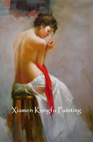100% hand painted female body wall art beautiful woman oil painting Pino artwork reproduction wall art decor high quality