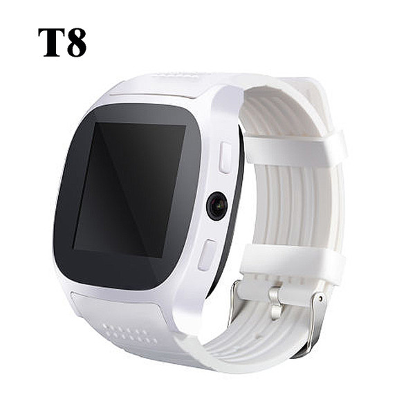 Smart Watch T8 Smartwatch Bluetooth Support SIM&TF Card With Camera Sync Call Message Men Women smartwach For Android