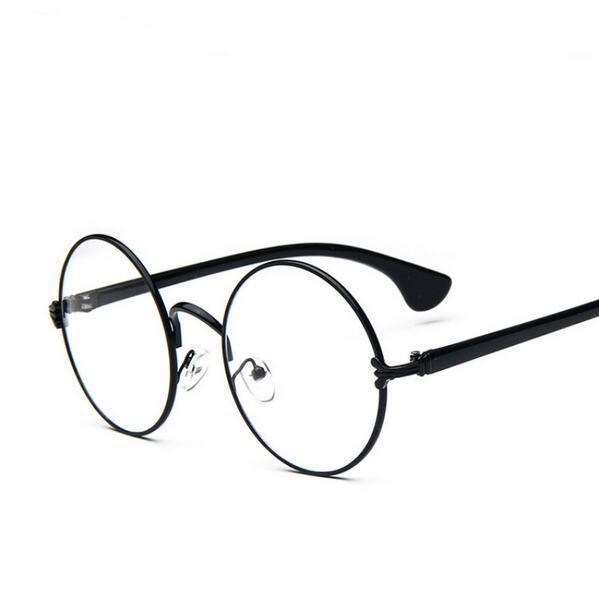 435026bfd7 Newest Decoration Plain Mirror Europe Men women Round Retro Metal  Eyeglasses Frames Korean Myopia Glasses Frame Optical Circle