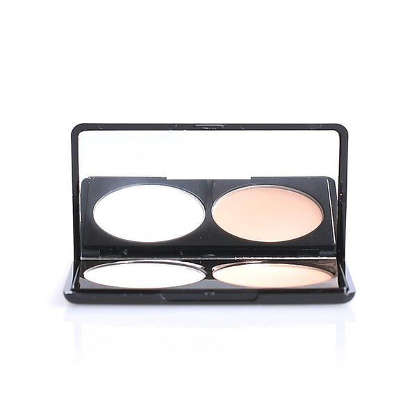 Party Queen 2 Color Bronzing Powder Pressed Finishing Powder Facial Bronzers and Highlighters Makeup Professional Make up