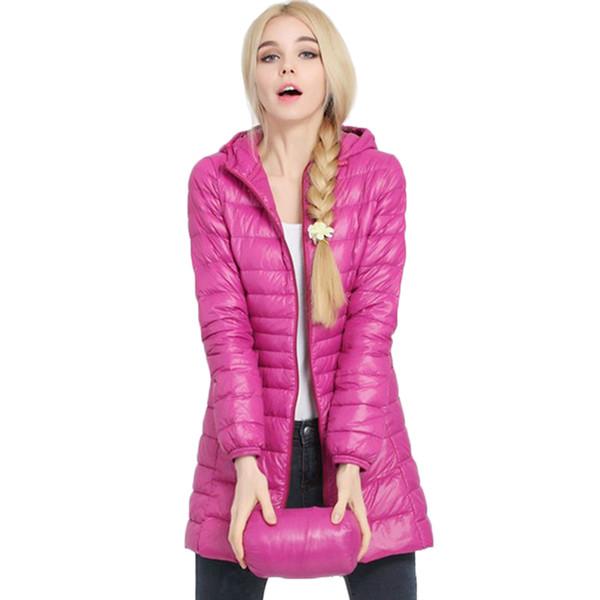 Winter jacket Woman Outerwear Slim Hooded Down Jacket Woman's Warm Down Coat Women Ultra Light Jackets White Duck Down Parkas