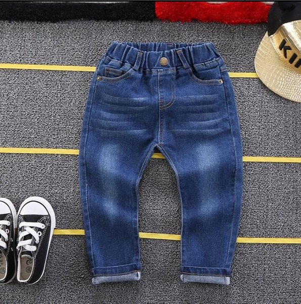 2-6Years Boys Jeans Kids Trousers Fashion Children Boys Jeans Kids Fashion Denim Pants Baby Casual Pants Infant free shipping