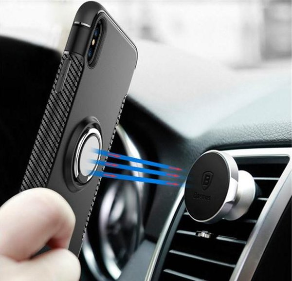 NEW hot Car Magnet Finger Ring Case Hard PC Back Holder Kickstand Cover Protective Shell Bag Stealth Full Stents For apple iPhone9 iPhone 9