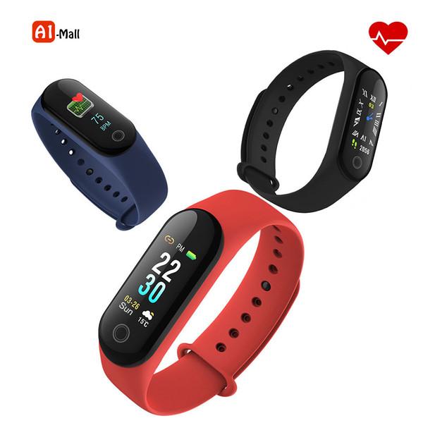 Smart Band Blood Pressure Heart Rate Monitor Wristband Fitness Sleep Tracker Smart Bracelet Watch Color Screen Band VS Mi 3