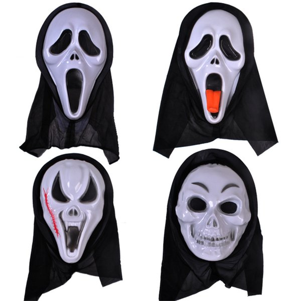 Christmas Halloween Devil Mask Screaming Mask Terrorist Horror Ghost Festival Headgear Death Ghost Face Scary Costume Accessories