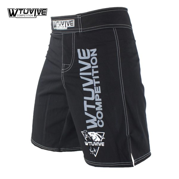 Wtuvive Black Mens Mma Boxing Trunks Muay Thai Fight Shorts Sanda Fight Wear Cheap Mixed Martial Arts Kickboxing Tiger Muay Thai