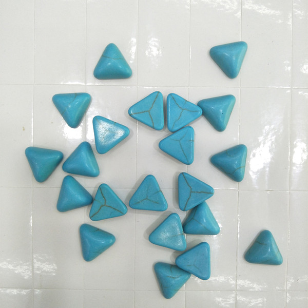 6/8/10/12/14 / 16mm Forma Triangolo Naturale Blu Bianco Perle di Cabochon Turchese Allentato Perle di Pietra Per Anelli Gioielli Che Fanno