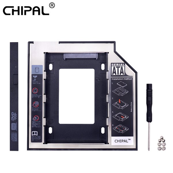 CHIPAL 50pcs Second HDD Caddy 9.5mm SATA 3.0 for 2.5