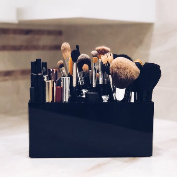 1PC Acrylic Makeup Organizer Brush Mascara Lipstick Stand Case Jewelry Box Cosmetic Holder Storage Box 3 Lattices