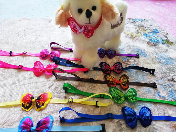 30pc New Handmade Butterfly Pet Puppy Dog Cat Bow ties Adjustable Butterfly Dog Cat Bowties Dog Accessories Collar Pet Supplies