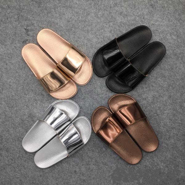 wholesale Brand 2018 Summer Slippers Bling Flip Flops Sandals Slip On Slides Shoes Women