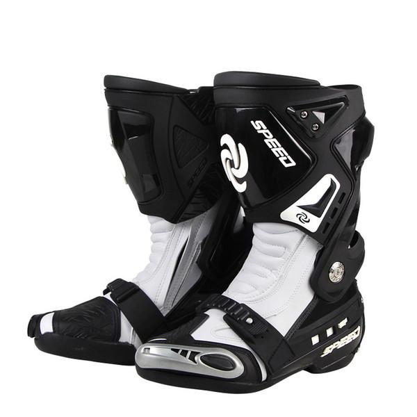 En Hommes Moto Acheter Cuir De Motocross Racing Bottes Moto De Étanche Équitation Moto Botas Tribu Chaussures Bottes Microfibre Équitation Long YED2IWH9e