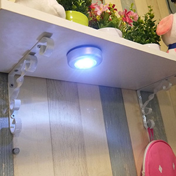 High Quality Mini Wall Light Car Kitchen Cabinet Light 3 LED Wireless Push Touch Lamp
