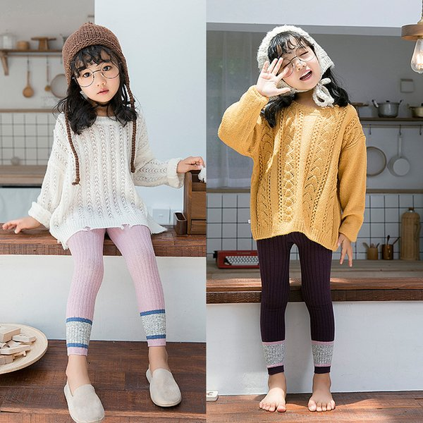 Baby Girls Pants Candy Solid Color Leggings Tights INS Autumn Simple Cotton Trousers Infant Newborn Fashion Elastic Pants