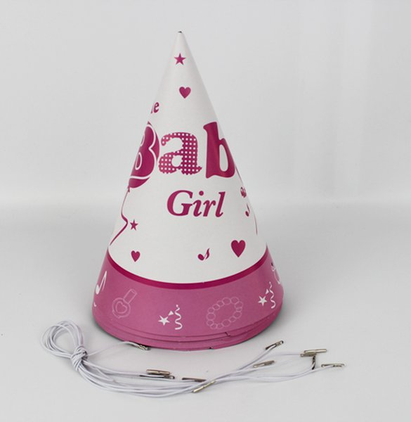 6 stücke Happy Birthday Party Dekoration Nettes Kind Kleines baby Cartoon Muster Geburtstag Papier Hut Ereignis Kids Party Supplies