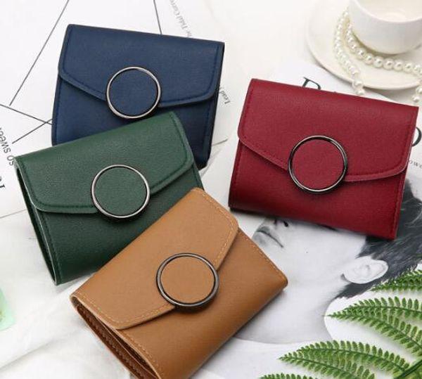Nouvelle version simple et courte de la version coréenne du porte-monnaie, un mini portefeuille avec un petit sac à cartes à monnaie.
