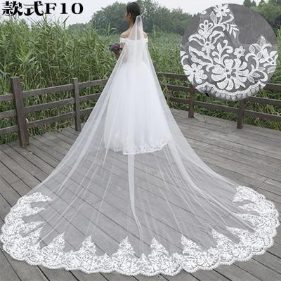 2019 Cathedral Length Long Wedding Veils Lace Applique Edge Custom Made Wedding Veils Bridal Accessories With Comb
