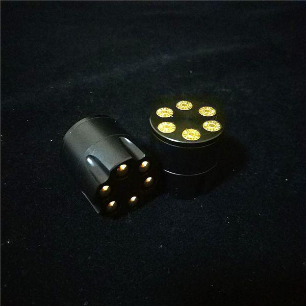 HOT Style 30mm Shooters Grinders de bala Trituradora de humo de tabaco de hierbas Muller de mano Mini 3 piezas Molinillos de hierba Aleación de zinc creativa