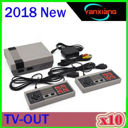 10pcs New Arrival MINI Game Console TV Vedio Family Game Players for Child and Adult Suppoer Nes Games With Box Via DHL ZY-NES-1