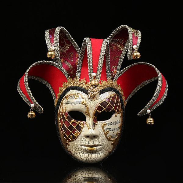Hanzi_masks Moda Tam Yüz Mini Venedik Maske Masquerade Mardi Gras Cadılar Bayramı / Düğün Duvar Dekoratif Sanat Koleksiyonu parti maskesi