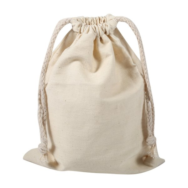 Cotton Linen Shoes Bag Travel Drawstring Storage Bags Organizer Sundries Small Beam Rope Pouches Handmade For Travel Home Storage