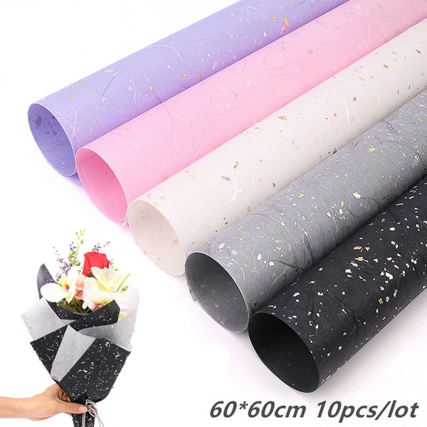 100pcs/lot 60x60cm Gold Silver Sequins Tissue Paper Flower Wrapping Paper Gift Packaging Craft Paper Roll Wine Clothing Packing