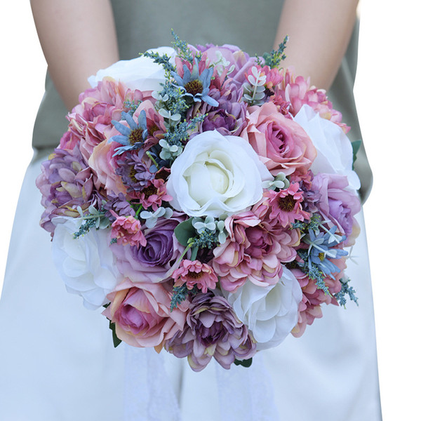 Artificiale Matrimonio Bouquet Da Sposa Popolare Popular Pinterest Seta Fiori Paese Forniture Matrimonio Sposa Holding Spilla Spiaggia Fidanzata