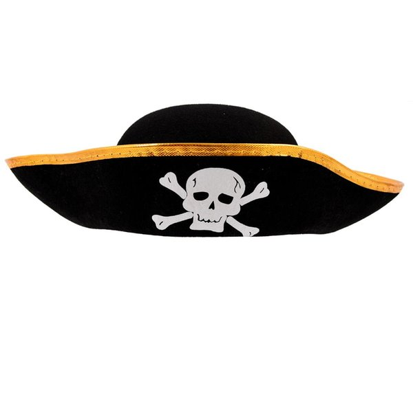 Unisex Dressing Up Black Skull Pattern Pirate Bucket Hat Cap