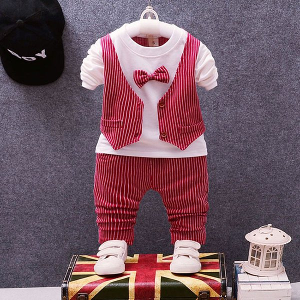 spring baby Boy clothes sets outfits suit for newborns babies Christmas birthday wedding dress baby boys gentleman clothing sets