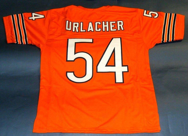 the latest 8f956 67300 2018 Cheap Retro #54 Brian Urlacher Custom Mitchell & Ness Jersey Orange  Mens Stitching Throwbacks Size S 5xl Football Jerseys Rugby From ...