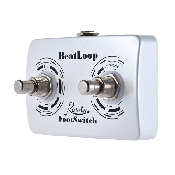 best selling Rowin BeatLoop Dual Footswitch Guitar Pedal Foot Switch Pedal for Rowin BEAT LOOP Recording Effect with 6.35mm Cable