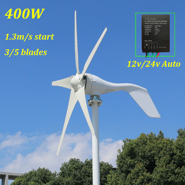 new arrival 400w wind power generator three phase AC 12v 24v 48v wind turbine with 12V 24V Auto switchs wind controller